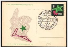 Polonia/Pologne/Poland: Intero, Stationery, Entier, Esperanto, Espéranto - Esperanto