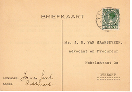 1930  Bk Naar Apeldoorn Met Langebalk ZUNDERT Van ACHTMAAL - Marcophilie