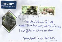 Le Gorille Des Montagnes Sur Lettre Adressée ANDORRA, Avec Timbre à Date Arrivée - Gorilles