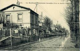 SAINT DENIS    /  93 /    LA CRUE DE LA SEINE EN 1910     CPA   9 X 14 - Saint Denis