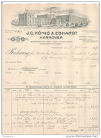 HANNOVER .- J.C. KÖNIG & EBHARDT  Geschäftsbücher-Fabrik. Buch-u.Steindruckerei - Germany
