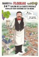 33----FLOIRAC--capitale De La Carte Postale--illust.BERNARD VEYRI--24eme Salon De La Carte 30 Avril 2011--voir 2 Scans - France