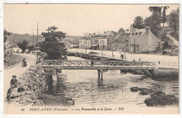 29 - PONT-AVEN - La Passerelle Et Le Quai - ND 41 - Pont Aven