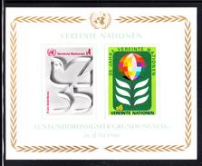 United Nations Vienna MNH 1980 Scott #14 Souvenir Sheet Of 2 35th Anniversary UN - Organisations