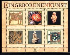 United Nations Vienna MNH 2004 Scott #346 Souvenir Sheet Of 6 Indigenous Art - Neufs