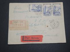 FRANCE / COTE D'IVOIRE - Env. En Recommandé De Assinie Pour La France En 1937 , Affr. Recto Et Verso - A Voir - L 6172 - Côte-d'Ivoire (1892-1944)
