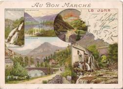 CHROMO GRAND FORMAT MAGASIN AU BON MARCHE LE JURA LITHO BARRET - Au Bon Marché