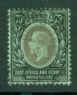 East Africa & Uganda Protectorates: 1912/21   KGV    SG52   75c   Black/green    Used - Kenya, Uganda & Tanganyika