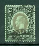 East Africa & Uganda Protectorates: 1912/21   KGV    SG52d   75c   Black/green  [on Emerald Back]   Used - Protettorati De Africa Orientale E Uganda