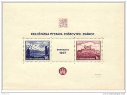 Cecoslovacchia - 1937 - Nuovo/new - Mi Block 1 - Cecoslovacchia