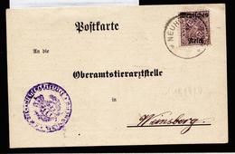 A4452) DR Infla Karte Von Neuhütten 2.10.20 Mit EF Mi.D59 Und Sieber-Beschreibungszettel - Deutschland
