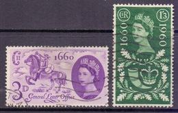 GB Scott 375/376 - SG619/620, 1960 General Letter Office GLO Set Used - 1952-.... (Elizabeth II)