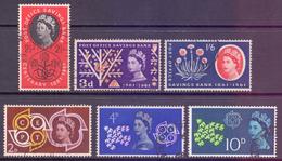 GB Scott 379/384 - SG623a/628, 1961 Post Office Savings Bank POSB & CEPT Sets Used - 1952-.... (Elizabeth II)