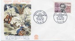 - FRANCE - FDC PARIS 27.4.1963 - EMILE VERHAEREN - LE CAILLOU-QUI-BIQUE - - Histoire