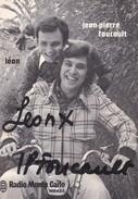 RADIO MONTE CARLO--JEAN PIERRE FOUCAULT & LEON--(animateur Radio Tv )--voir 2 Scans - Espectáculo