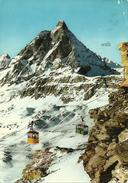 Cervinia Breuil (Aosta) Il Monte Cervino E Due Funivie - Aosta