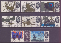 GB Scott 430/437 - SG671/678, 1965 Battle Of Britain Set Used - 1952-.... (Elizabeth II)
