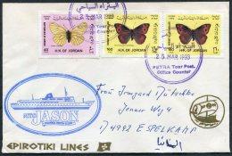 1993 Jordan Butterflys Petra. Greece MTS JASON Ship Cover - Jordan