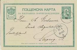 Bulgarien / Bulgaria - Ganzsache Postkarte Gebraucht / Postcard Used (L693) - Entiers Postaux
