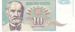 JUGOSLAVIA  10 DINARA  1994  FDS - Yugoslavia