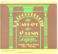 Etiquette Bière : La Brocqueroise De L'Abbaye St Denis En Brocqueroie 75 Cl - Bière