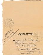 Carte Lettre - Poste Aux Armée - Arrivée SAINT PAIR SUR MER - Lettre Datée Du 10/05/1940 - 310 ème RACP - Marcophilie (Lettres)