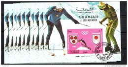 "10x SHARJAH - Olympic Games - Winner  Sapporo "" 72 - Cto - Imperf."