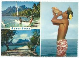 CPSM MULTIVUES BORA BORA, TAHITI - Tahiti