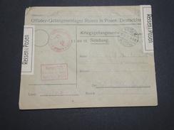 ALLEMAGNE - Enveloppe De Officier Prisonnier De Reisen En 1917 Avec Contrôle Postal - A Voir - L 6204 - Germany