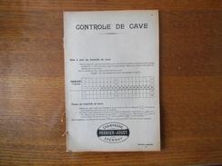 CHAMPAGNE PERRIER-JOUËT EPERNAY  CONTROLE DE CAVE 16 PAGES - Publicités