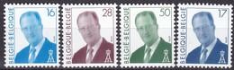 1996, Belgien, 2710/12 + 2732, König Albert II,  MNH ** - Belgien