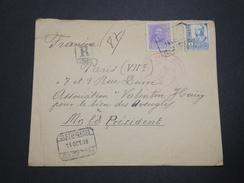 ESPAGNE - Enveloppe En Recommandé De San Sebastian Pour La France En 1938 , Censure Militaire - A Voir - L 6211 - Republikanische Zensur