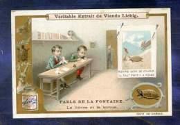 Chromo Liebig S625 Fable La Fontaine Lièvre Tortue Tortoise Cocotte Origami - Liebig