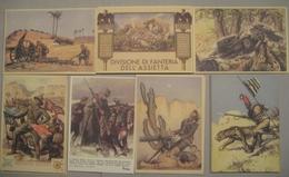 ITALIA - ITALY LOTTO DI 45 CARTOLINE POSTALI TEMATICA MILITARI CON RIPETIZIONI 07 SOGGETTI - RIPRODUZIONI - Lots & Kiloware (mixtures) - Max. 999 Stamps