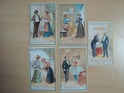 Lot De 5 Chromos AMIDON REMY Grand Prix à L'éposition De Paris 1889 - Thee & Koffie