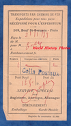 Récépissé Ancien - Transport Par Chemin De Fer - Colis Postal - Service Spécial - 1939 - PARIS - Port Dû - Transportation Tickets