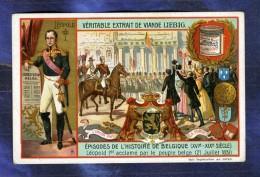 Chromo Liebig S814 Histoire Belgique Belgium Roi Leopold I King Constitution - Liebig
