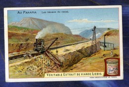 Chromo Liebig S833 Panama Travaux Canal Buildings Chemin De Fer Rack Railway - Liebig