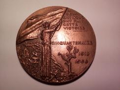 MEDAILLE BRONZE CESSEZ LE FEU 11 NOVEMBRE 1918 à 11 Heures Par DELAMARRE CITATION DE CLEMENCEAU DIAMETRE 7 CM 169.16 G - France