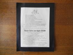 LE VERGUIER AISNE MONSIEUR CHARLES-LOUIS-AUGUSTE SEVERIN MAIRE CHEVALIER DE LA LEGION D'HONNEUR DECEDE LE 19 MARS 1935 - Obituary Notices