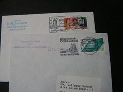 BRD 2 Schöne Briefe Stempel Heiligenhaus Und Gelnhausen - Briefmarken