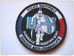 RARE INSIGNE TISSU PATCH POLICE NATIONALE LA BAC DE MARSEILLE QUARTIER NORD SUR VELCROS ETAT EXCELLENT - Police & Gendarmerie