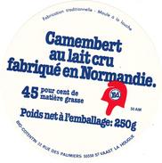 ETIQUETTE DE  CAMEMBERT  FROMAGERIE DU VAL DE SIENNE 50 AM   POUR ED - Cheese