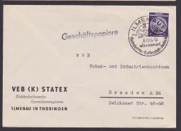 ILMENAU DDR WSt. Luftkurort, Glasindustrie Goethestadt Hochschule Geschäfstpapiere, VEB (K) STATEX - DDR