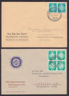 Dienstpost Beleg 5 Pf.(4) Aus Mühlhausen Und 10 Pf.(2) Beneckenstein Rat Der Stadt, Zigarrenfabrik - DDR