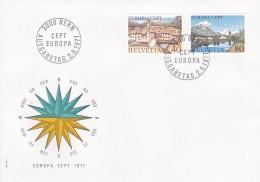 Helvetia (Suisse) COB° 1024-1025 - FDC