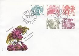 Helvetia (Suisse) COB° 1033-1041 - FDC
