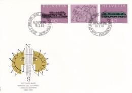 Helvetia (Suisse) COB° 1148-1149 - FDC