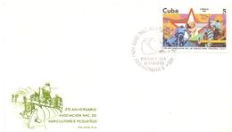 CUBA ANNIVERSARY AGRICOLTORES FDC 1986 (GEN170093) - Agricoltura