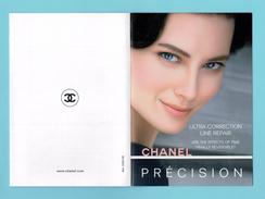Cartes Parfumées Carte CHANEL ULTRA CORRECTION LINE REPAIR  De   CHANEL  PRÉCISION - Modern (vanaf 1961)